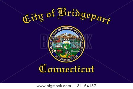 Flag of Bridgeport is the most populous city in the American state of Connecticut - United States
