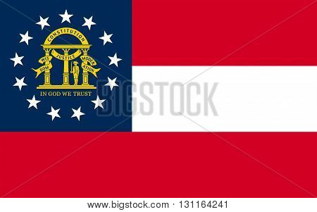 Flag of Georgia is a state located in the southeastern United States