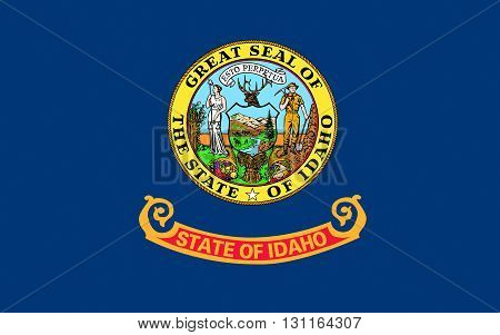 Flag of Idaho s a state in the northwestern region of the United States
