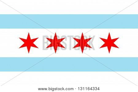Flag of Chicago is the third most populous city in the United States.