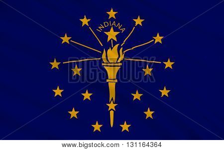 Flag of Indiana is a U.S. state located in the midwestern and Great Lakes regions of North America