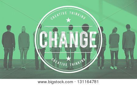 Change Revolution Process Improvement Concept
