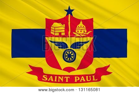Flag of Saint Paul is the capital and second-most populous city of the U.S. state of Minnesota