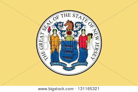 Flag of New Jersey is a state in the northeastern and mid-Atlantic regions of the United States