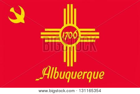 Flag of Albuquerque is the most populous city in the U.S. state of New Mexico