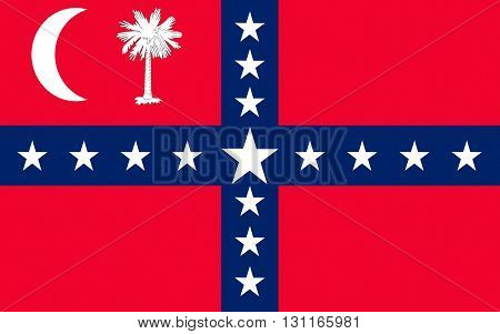 Flag of South Carolina is a state in the southeastern region of the United States