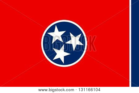 Flag of Tennessee is a state located in the southeastern United States