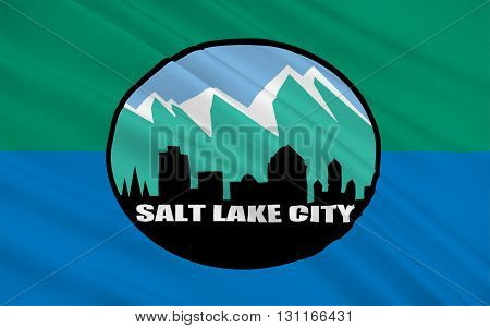 Flag of Salt Lake City often shortened to Salt Lake or SLC is the capital and the most populous city in the U.S. state of Utah
