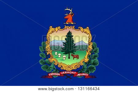 Flag of Vermont is a state in the New England part of the northeastern region of the United States