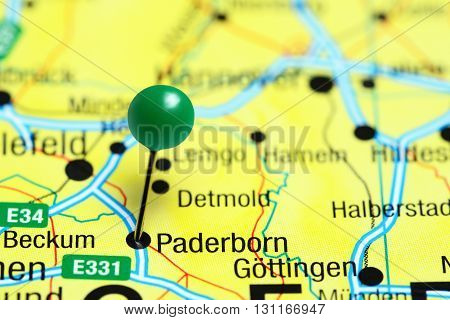 Paderborn pinned on a map of Germany