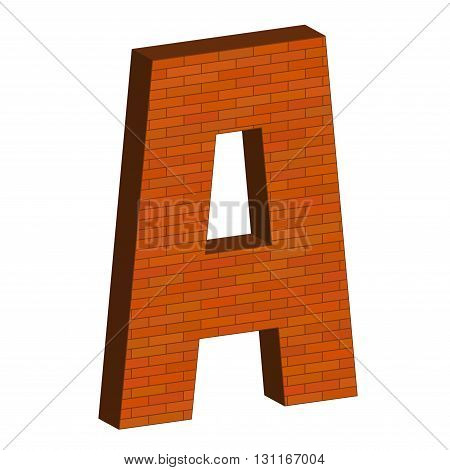 Letter Alphabet Of Brick