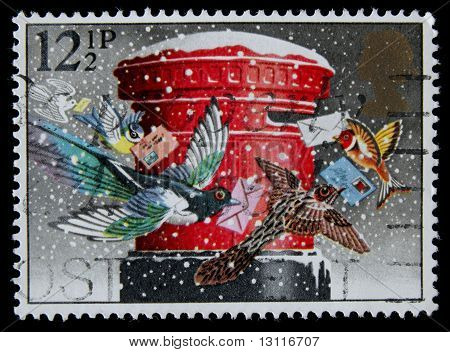 canceled postage stamp