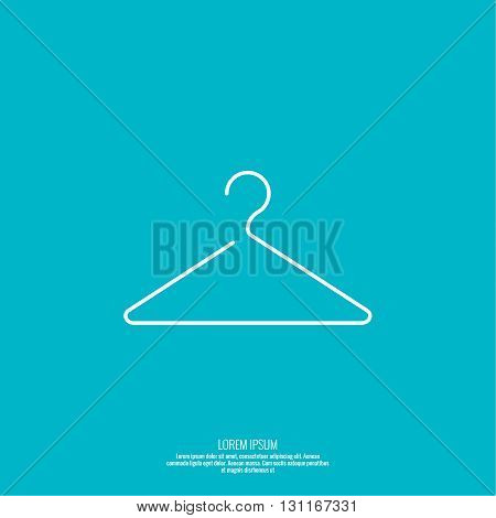 Vector icon hanger. Linear icon. Thin line. Clothes hanger for home and shop, showcase