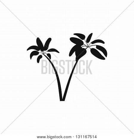 Two palms icon in simple style on a white background
