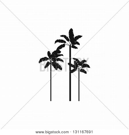 Three palm plant trees icon in simple style on a white background