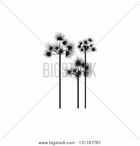 Three palm trees icon in simple style on a white background