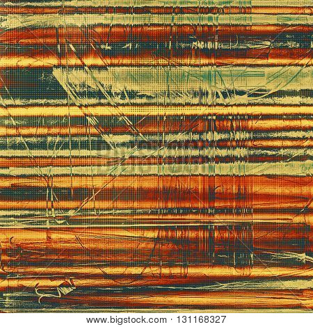 Art grungy texture, aged background with retro feeling. With different color patterns: yellow (beige); brown; green; red (orange); gray