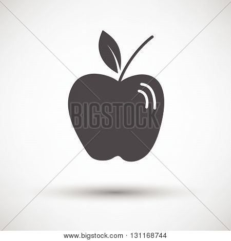 Apple Icon On Gray Background