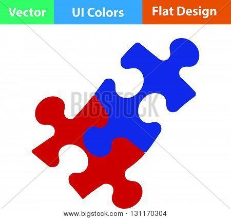 Flat Design Icon Of Puzzle Decision