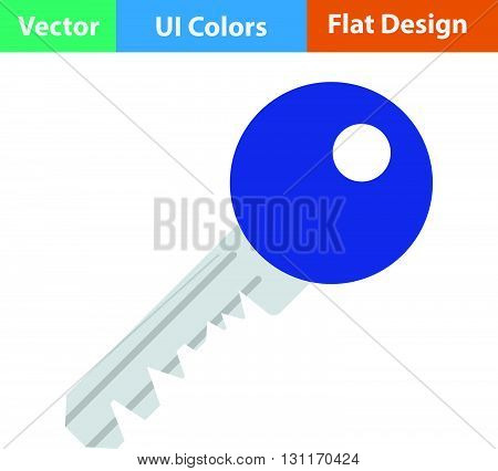 Flat Design Icon Of Key