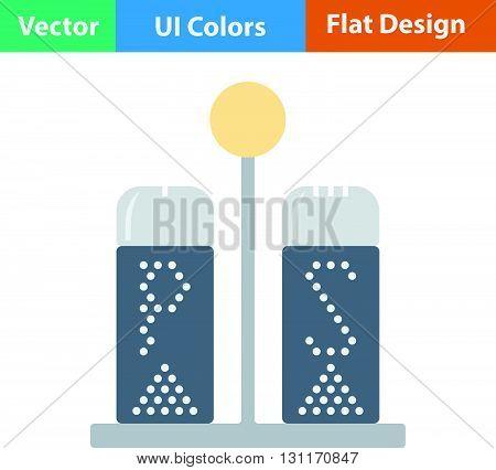 Pepper and salt icon. Vector illustration. Flat design ui.