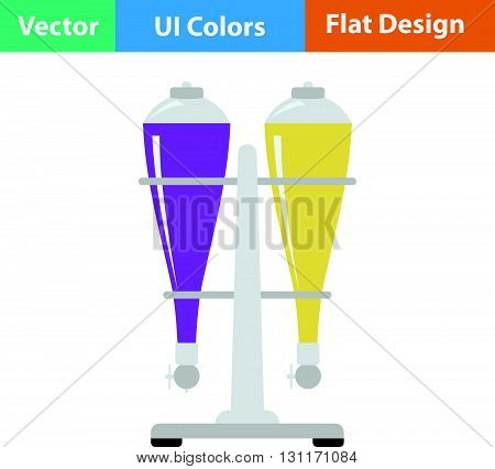 Soda siphon equipment icon. Vector illustration. Flat design ui.