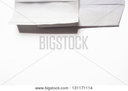 White envelope business isolated white background concept.