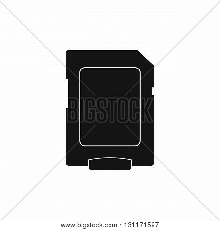 Micro sd card icon in simple style on a white background