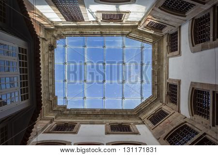 PORTO, PORTUGAL - APRIL 21, 2016: Roof of the Portuguese Center of Photography in Porto, Portugal
