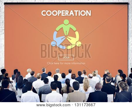 Cooperation Together Unity Teamwork Support Concept
