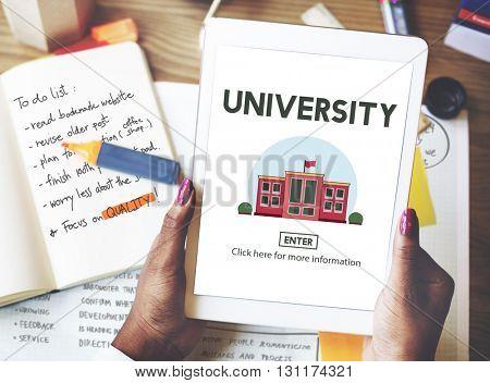 University Campus Education Knowledge School Concept