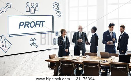 Profit Business Financial Gain Graphic Concept