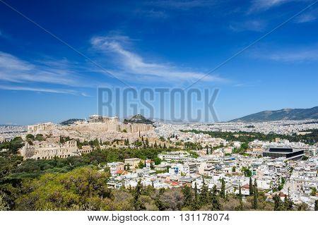 acropolis hill daytime
