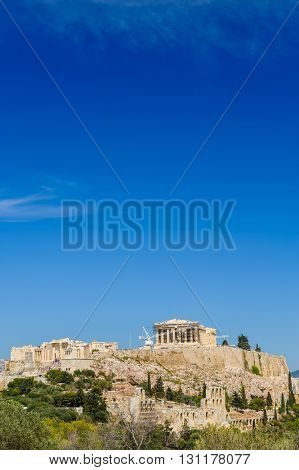 acropolis hill daytime