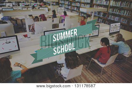 Summer School Education Student Study Concept