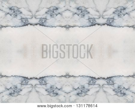 Closeup surface marble stone pattern wall with space at the center texture background