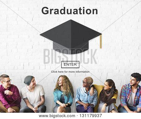 Graduation Education Study University Achievement Success Website Concept