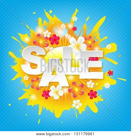 Sunburst Sale Colorful Banner, With Gradient Mesh, Vector Illustration