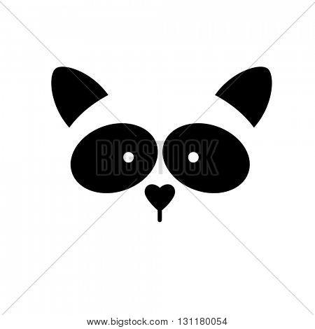 Raccoon. Raccoon logo. Isolated raccoon head on white background. Raccoon mascot idea for logo, emblem, symbol, icon.