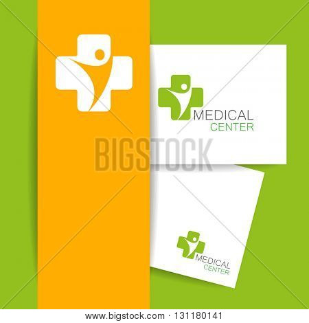 Medical center logo. Medical identity. Template design.