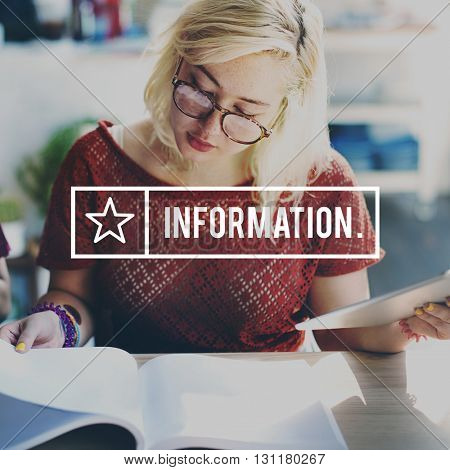 Information Details Data Content Research Statistics Concept