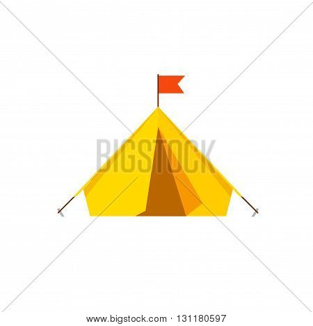 Camping tent vector isolated on white background camp tent icon illustration flat cartoon design