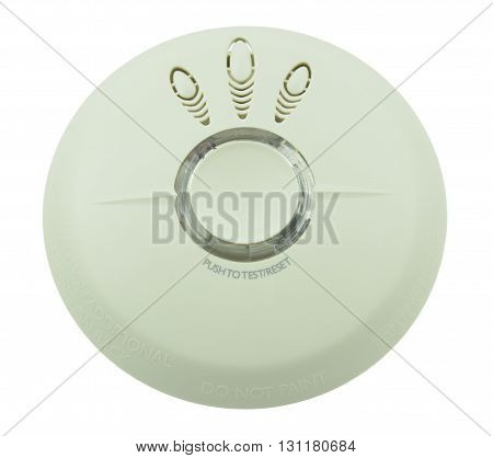 Smoke fire detector on white background isolated