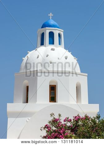 Architecture, Church at Santorini Island, Cyclades, Greece