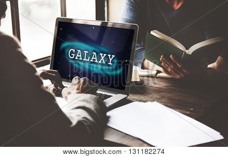 Galaxy Astronomy Business Education Graphic Concept