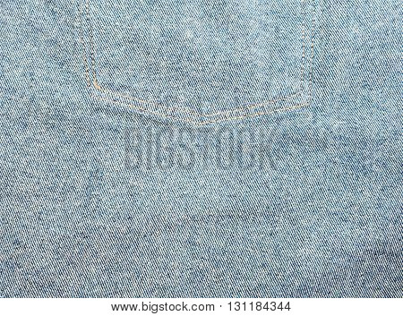 Denim texture, Close up texture of blue jean or denim fabric inside out, Canvas denim texture that can be used as background