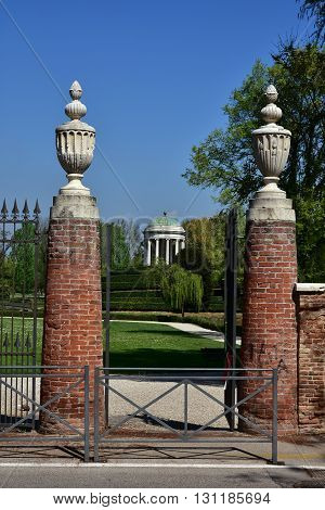 Entrance of the Querini Park in the center of Vicenza
