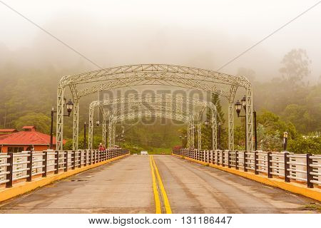 Bridge Across The Caldera River In Boquete, Panama