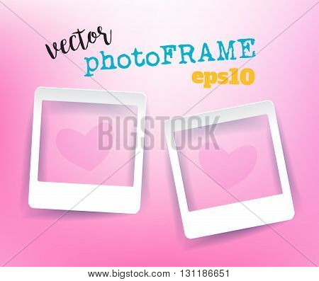 Vector Blank PhotoFrames with empty space for your image.