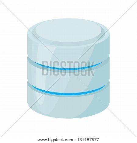 Database of network icon in cartoon style isolated on white background. Data storage symbol